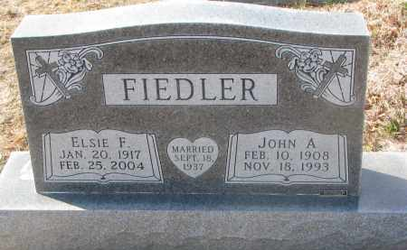 FIEDLER, JOHN A. - Yankton County, South Dakota | JOHN A. FIEDLER - South Dakota Gravestone Photos