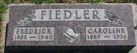 FIEDLER, CAROLINE - Yankton County, South Dakota | CAROLINE FIEDLER - South Dakota Gravestone Photos
