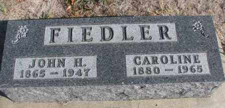 FIEDLER, JOHN H. - Yankton County, South Dakota | JOHN H. FIEDLER - South Dakota Gravestone Photos