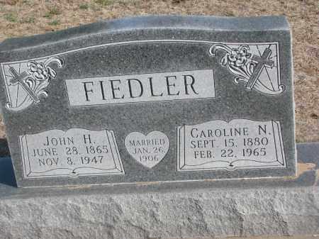 FIEDLER, JOHN H. - Yankton County, South Dakota   JOHN H. FIEDLER - South Dakota Gravestone Photos