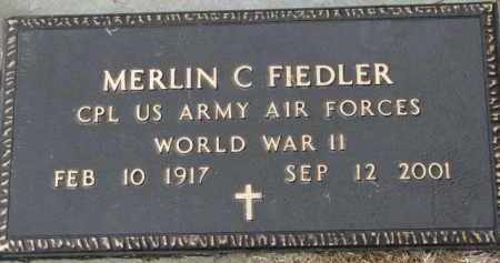 FIEDLER, MERLIN C. (WW II) - Yankton County, South Dakota   MERLIN C. (WW II) FIEDLER - South Dakota Gravestone Photos