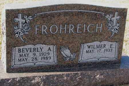 FROHREICH, BEVERLY A. - Yankton County, South Dakota | BEVERLY A. FROHREICH - South Dakota Gravestone Photos
