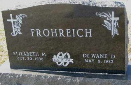 FROHREICH, ELIZABETH M. - Yankton County, South Dakota | ELIZABETH M. FROHREICH - South Dakota Gravestone Photos