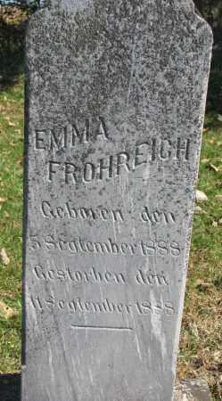 FROHREICH, EMMA - Yankton County, South Dakota   EMMA FROHREICH - South Dakota Gravestone Photos