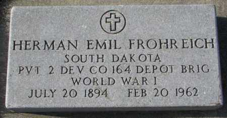 FROHREICH, HERMAN EMIL (WW I) - Yankton County, South Dakota   HERMAN EMIL (WW I) FROHREICH - South Dakota Gravestone Photos