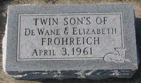 FROHREICH, TWIN SONS - Yankton County, South Dakota | TWIN SONS FROHREICH - South Dakota Gravestone Photos