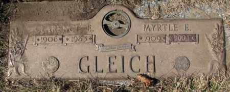 GLEICH, CLARENCE E. - Yankton County, South Dakota | CLARENCE E. GLEICH - South Dakota Gravestone Photos