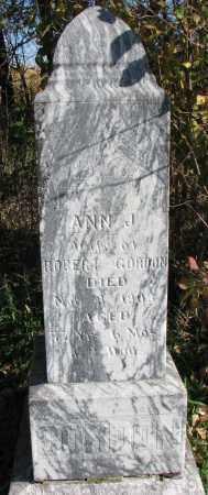 GORDON, ANN J. - Yankton County, South Dakota | ANN J. GORDON - South Dakota Gravestone Photos