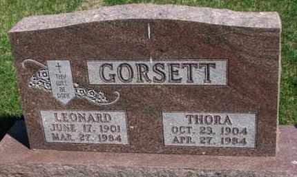GORSETT, LEONARD - Yankton County, South Dakota | LEONARD GORSETT - South Dakota Gravestone Photos