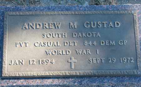 GUSTAD, ANDREW M. SR. (WW I) - Yankton County, South Dakota | ANDREW M. SR. (WW I) GUSTAD - South Dakota Gravestone Photos