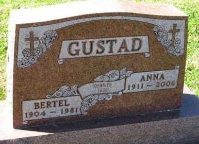 GUSTAD, BERTEL - Yankton County, South Dakota   BERTEL GUSTAD - South Dakota Gravestone Photos
