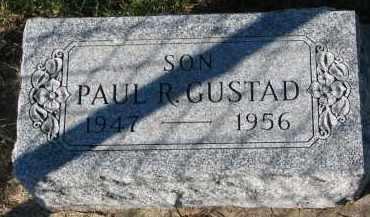 GUSTAD, PAUL R. - Yankton County, South Dakota   PAUL R. GUSTAD - South Dakota Gravestone Photos
