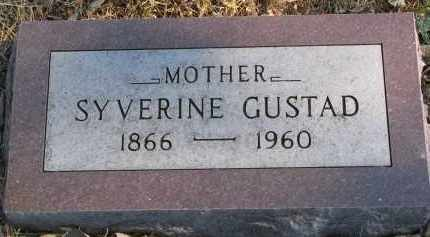 GUSTAD, SYVERINE - Yankton County, South Dakota | SYVERINE GUSTAD - South Dakota Gravestone Photos