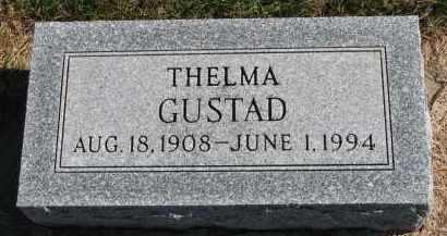GUSTAD, THELMA - Yankton County, South Dakota | THELMA GUSTAD - South Dakota Gravestone Photos