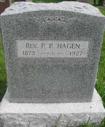 "HAGEN, P.P. ""REV"" - Yankton County, South Dakota   P.P. ""REV"" HAGEN - South Dakota Gravestone Photos"