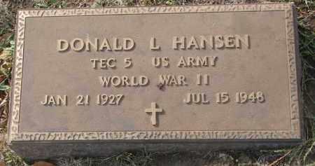 HANSEN, DONALD L. - Yankton County, South Dakota | DONALD L. HANSEN - South Dakota Gravestone Photos