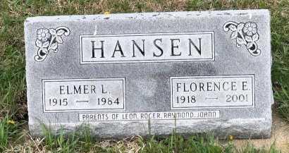 HANSEN, FLORENCE E - Yankton County, South Dakota | FLORENCE E HANSEN - South Dakota Gravestone Photos
