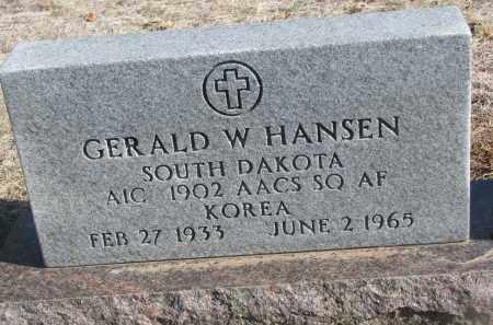 HANSEN, GERALD W. - Yankton County, South Dakota | GERALD W. HANSEN - South Dakota Gravestone Photos