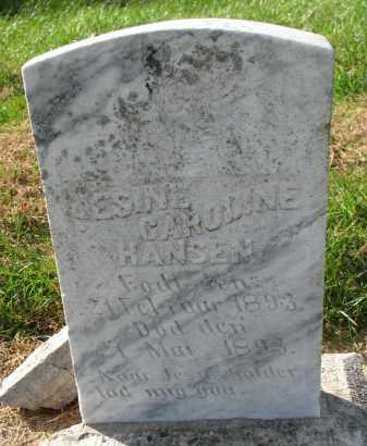 HANSEN, JESINE CAROLINE - Yankton County, South Dakota   JESINE CAROLINE HANSEN - South Dakota Gravestone Photos