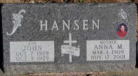 HANSEN, ANNA M. - Yankton County, South Dakota | ANNA M. HANSEN - South Dakota Gravestone Photos