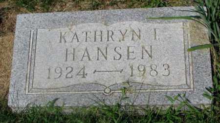 HANSEN, KATHRYN I. - Yankton County, South Dakota | KATHRYN I. HANSEN - South Dakota Gravestone Photos