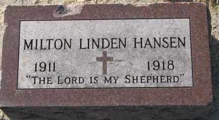 HANSEN, MILTON LINDEN - Yankton County, South Dakota | MILTON LINDEN HANSEN - South Dakota Gravestone Photos