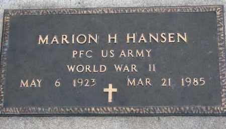 HANSEN, MARION H. (WW II) - Yankton County, South Dakota   MARION H. (WW II) HANSEN - South Dakota Gravestone Photos