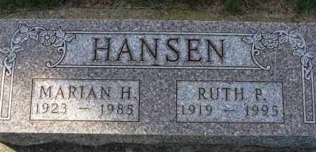 HANSEN, MARIAN H. - Yankton County, South Dakota | MARIAN H. HANSEN - South Dakota Gravestone Photos