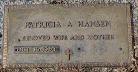 HANSEN, PATRICIA A. - Yankton County, South Dakota   PATRICIA A. HANSEN - South Dakota Gravestone Photos