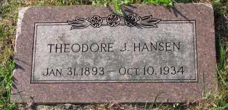 HANSEN, THEODORE J. - Yankton County, South Dakota | THEODORE J. HANSEN - South Dakota Gravestone Photos