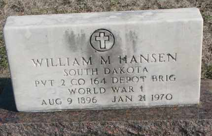 HANSEN, WILLIAM M. - Yankton County, South Dakota | WILLIAM M. HANSEN - South Dakota Gravestone Photos