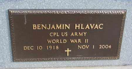 HLAVAC, BENJAMIN (WW II) - Yankton County, South Dakota | BENJAMIN (WW II) HLAVAC - South Dakota Gravestone Photos