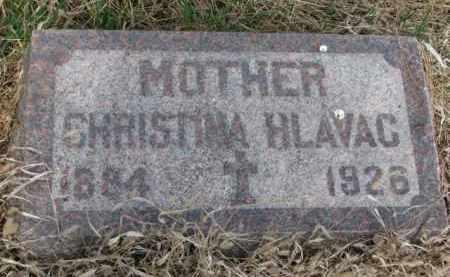 HLAVAC, CHRISTINA - Yankton County, South Dakota | CHRISTINA HLAVAC - South Dakota Gravestone Photos