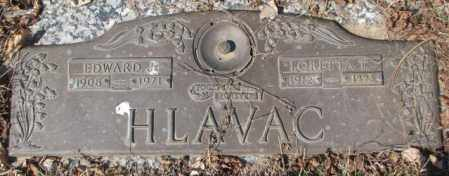 HLAVAC, EDWARD J. - Yankton County, South Dakota | EDWARD J. HLAVAC - South Dakota Gravestone Photos