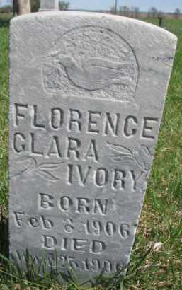 IVORY, FLORENCE CLARA - Yankton County, South Dakota | FLORENCE CLARA IVORY - South Dakota Gravestone Photos