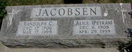 JACOBSEN, ALICE - Yankton County, South Dakota | ALICE JACOBSEN - South Dakota Gravestone Photos