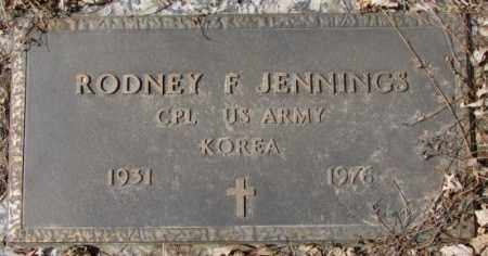 JENNINGS, RODNEY F. - Yankton County, South Dakota | RODNEY F. JENNINGS - South Dakota Gravestone Photos