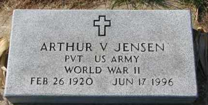 JENSEN, ARTHUR V. - Yankton County, South Dakota | ARTHUR V. JENSEN - South Dakota Gravestone Photos
