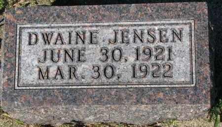 JENSEN, DWAINE - Yankton County, South Dakota | DWAINE JENSEN - South Dakota Gravestone Photos