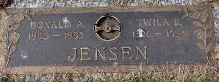 JENSEN, TWILA B. - Yankton County, South Dakota | TWILA B. JENSEN - South Dakota Gravestone Photos