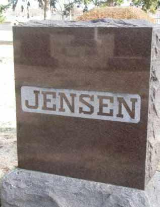 JENSEN, FAMILY STONE - Yankton County, South Dakota   FAMILY STONE JENSEN - South Dakota Gravestone Photos