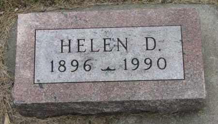 JENSEN, HELEN D. - Yankton County, South Dakota | HELEN D. JENSEN - South Dakota Gravestone Photos
