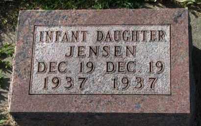 JENSEN, INFANT DAUGHTER - Yankton County, South Dakota   INFANT DAUGHTER JENSEN - South Dakota Gravestone Photos