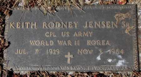 JENSEN, KEITH RODNEY - Yankton County, South Dakota | KEITH RODNEY JENSEN - South Dakota Gravestone Photos