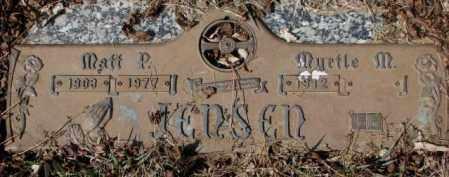 JENSEN, MATT P. - Yankton County, South Dakota | MATT P. JENSEN - South Dakota Gravestone Photos