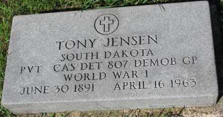 JENSEN, TONY - Yankton County, South Dakota | TONY JENSEN - South Dakota Gravestone Photos