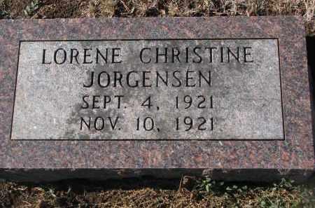 JORGENSEN, LORENE CHRISTINE - Yankton County, South Dakota | LORENE CHRISTINE JORGENSEN - South Dakota Gravestone Photos