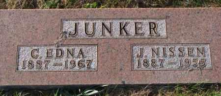 JUNKER, J. NISSEN - Yankton County, South Dakota | J. NISSEN JUNKER - South Dakota Gravestone Photos