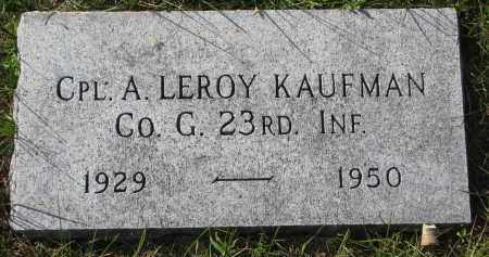 KAUFMAN, A. LEROY - Yankton County, South Dakota | A. LEROY KAUFMAN - South Dakota Gravestone Photos