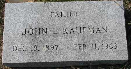 KAUFMAN, JOHN L. - Yankton County, South Dakota | JOHN L. KAUFMAN - South Dakota Gravestone Photos